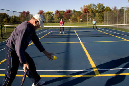 Pickleball Doubles serve strategy