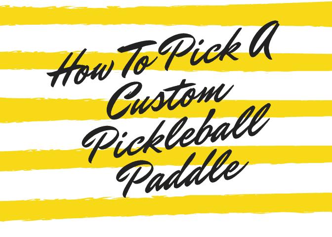 custom picklabll paddle logo